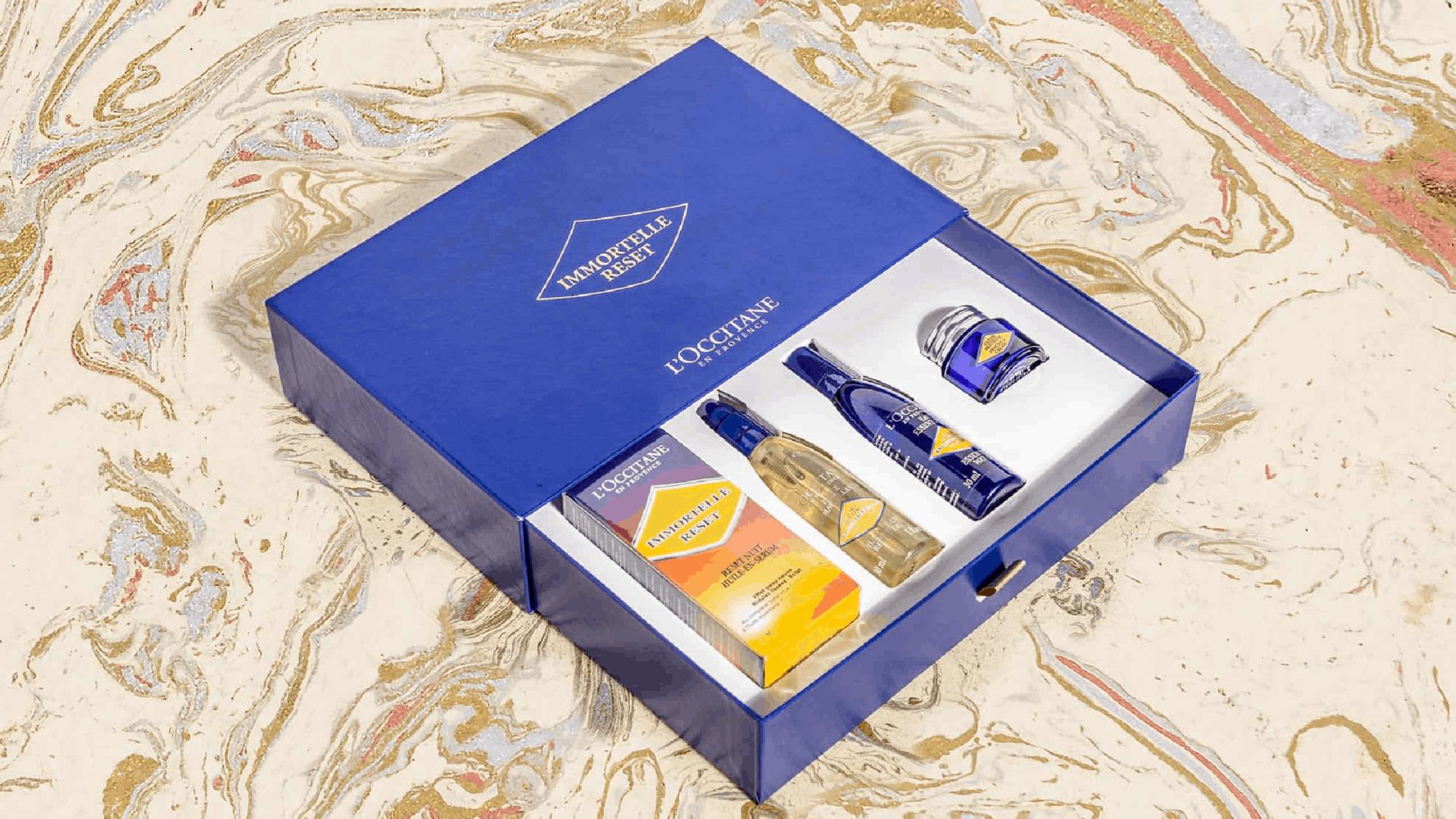 loccitane reset slipcase rigid packaging
